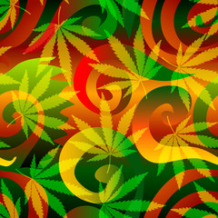 Marijuana background.