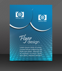 Abstract flyer or cover design with halftone effect