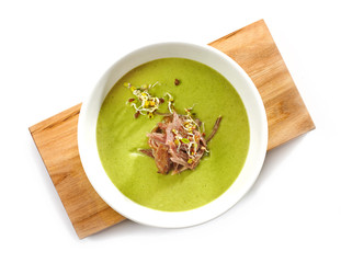 bowl of broccoli cream soup
