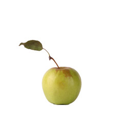 Apple over white