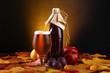 Leinwandbild Motiv Autumn beer