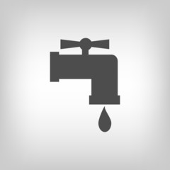 Tap with water drop
