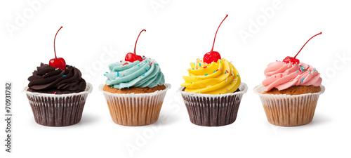 Deurstickers Snoepjes Cupcake