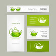 Business cards design, green trea sketch