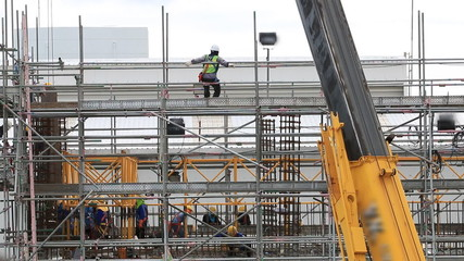 Labour on construction building
