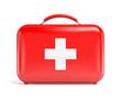 Leinwanddruck Bild - Red first aid kit