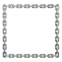 Metal chain frame