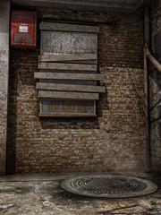 Stary opuszczony zaułek