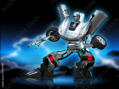 canvas print picture robot transformer