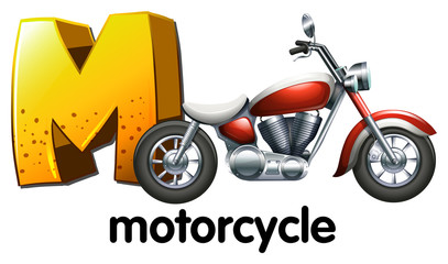 A letter M for motorcycle