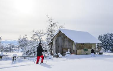 Wandern in winterlicher Idylle
