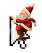 canvas print picture - Santa Claus and shopping on-line