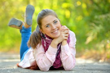 Autumn portrait o young woman