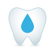 Tooth with a drop