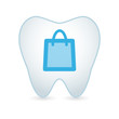 Tooth with a shopping bag