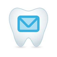 Tooth with an email sign