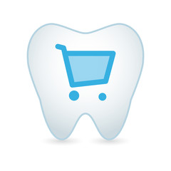 Tooth with a shopping cart