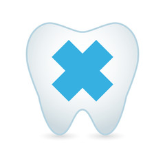 Tooth with an irritating substance icon