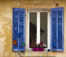 window with shutters,Cassis, France