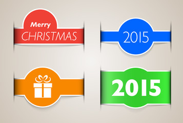 Holiday web design elements like paper inset
