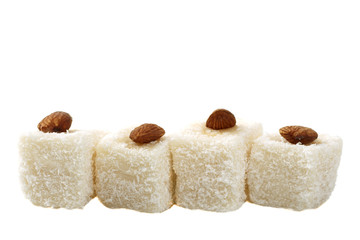 delight with coconut and almonds