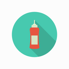 ketchup bottle icon illustration