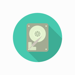hard disk icon illustration