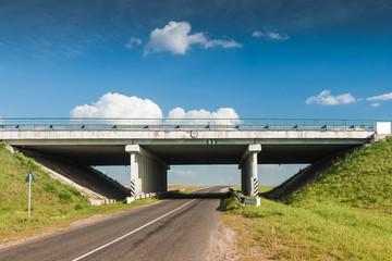 Bridge over the rural road