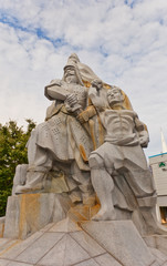 Memorial of Korean general Yun Heung-Shin in Busan, Korea