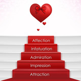 Falling in Love Process with Hearts