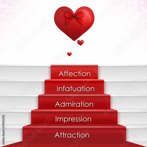 Falling in Love Process with Hearts - 70935392