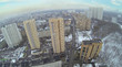 Above view of high residential buildings in neighborhood