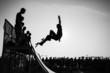 Leinwanddruck Bild - Jump