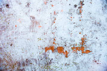 Old whitewashed wall with rich and various texture