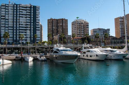 canvas print picture Hafen von Malaga - Costa del Sol/ Spanien