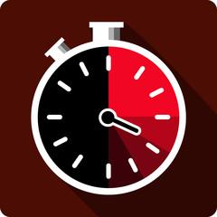 Vector Stopwatch Flat Icon