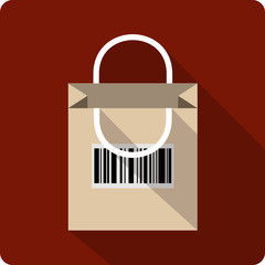 Vector Shopping  Bag with Code Bar