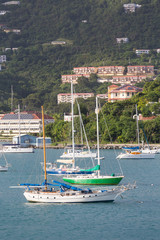 Luxury Sailboats in Bay on St Thomas