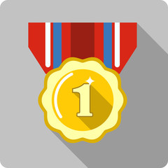 Vector Medal with Ribbon