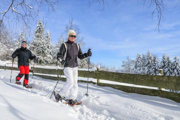 Schneeschuh-Tour im frischen Schnee