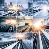 City Metro Rail collage