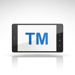 TM word on mobile phone