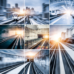 City Metro Rail collage