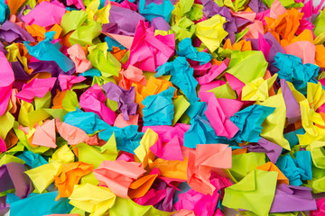 Crumpled colored paper background