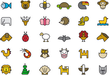 Animals icon set