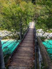 Soča wooden suspension bridge