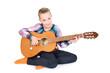 canvas print picture - MMädchen mit Gitarre