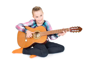 MMädchen mit Gitarre