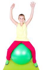Mädchen mit Gymnastikball