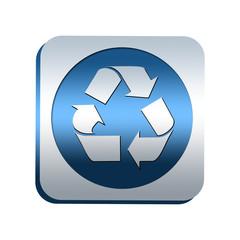 Bouton chromé : recyclage